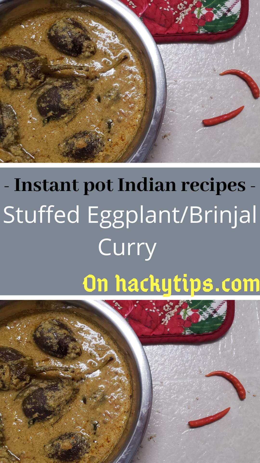 Stuffed Eggplant/Brinjal Instant Pot