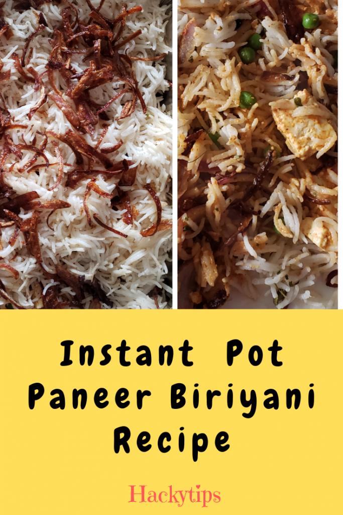 Veg Paneer Biriyani Recipe
