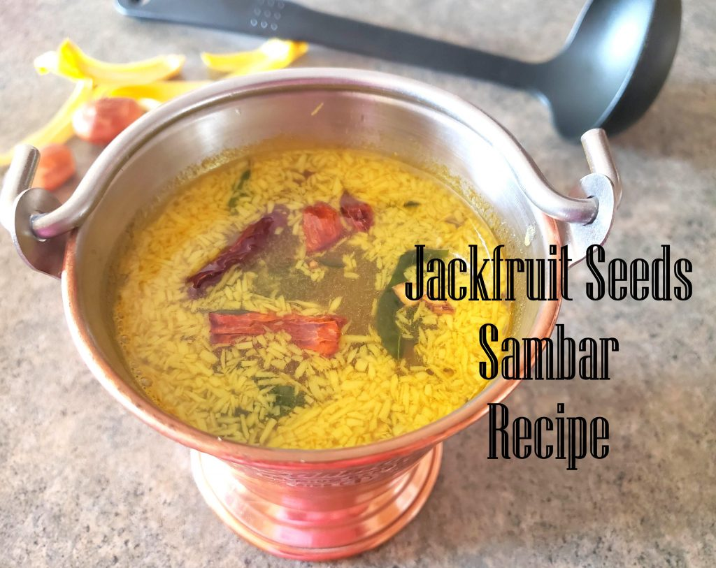 Jackfruit seeds sambar recipe